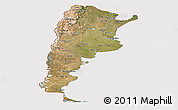 Satellite Panoramic Map of Argentina, cropped outside
