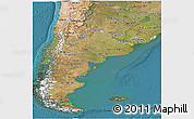 Satellite Panoramic Map of Argentina