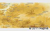 Physical Panoramic Map of 25 de Mayo