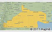Savanna Style 3D Map of Rio Negro