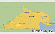Savanna Style 3D Map of Rio Negro, single color outside