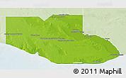 Physical 3D Map of Adolfo Alsina, lighten