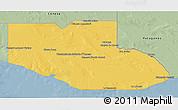 Savanna Style 3D Map of Adolfo Alsina
