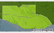 Physical Map of Adolfo Alsina, darken