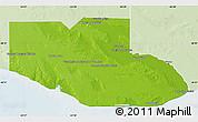 Physical Map of Adolfo Alsina, lighten