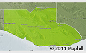 Physical Map of Adolfo Alsina, semi-desaturated