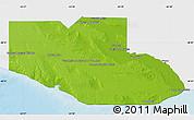 Physical Map of Adolfo Alsina, single color outside