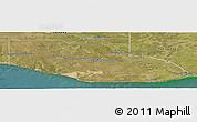 Satellite Panoramic Map of Adolfo Alsina