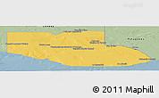 Savanna Style Panoramic Map of Adolfo Alsina
