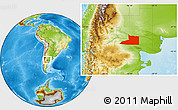 Physical Location Map of Avellaneda
