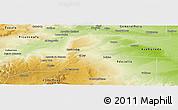 Physical Panoramic Map of El Cuy