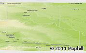 Physical Panoramic Map of General Roca