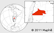 Blank Location Map of Rio Negro