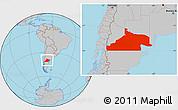 Gray Location Map of Rio Negro