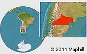 Satellite Location Map of Rio Negro