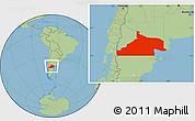 Savanna Style Location Map of Rio Negro