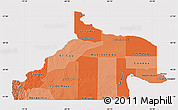Political Shades Map of Rio Negro, cropped outside