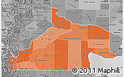 Political Shades Map of Rio Negro, desaturated