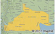 Savanna Style Map of Rio Negro