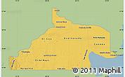 Savanna Style Map of Rio Negro, single color outside