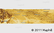 Physical Panoramic Map of Norquinco