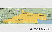 Savanna Style Panoramic Map of Rio Negro