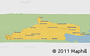Savanna Style Panoramic Map of Rio Negro, single color outside