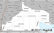 Gray Simple Map of Rio Negro
