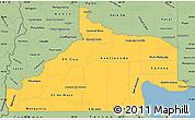 Savanna Style Simple Map of Rio Negro
