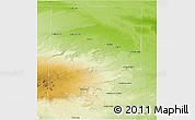 Physical Panoramic Map of Valcheta