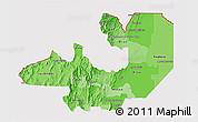 Political Shades 3D Map of Salta, cropped outside