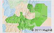 Political Shades 3D Map of Salta, lighten