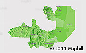Political Shades 3D Map of Salta, single color outside
