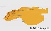 Political Panoramic Map of Anta, cropped outside
