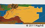 Political Panoramic Map of Anta, darken