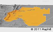 Political Panoramic Map of Anta, desaturated
