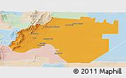 Political Panoramic Map of Anta, lighten