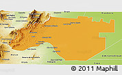 Political Panoramic Map of Anta, physical outside