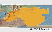 Political Panoramic Map of Anta, semi-desaturated