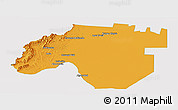 Political Panoramic Map of Anta, single color outside