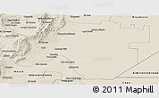 Shaded Relief Panoramic Map of Anta