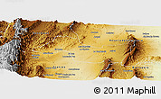 Physical Panoramic Map of Candelaria