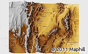 Physical 3D Map of La Vina