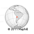 Outline Map of Los Andes