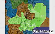 Political Shades Map of Salta, darken