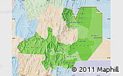 Political Shades Map of Salta, lighten