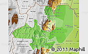 Political Shades Map of Salta, physical outside