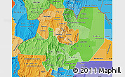 Political Shades Map of Salta
