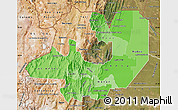 Political Shades Map of Salta, satellite outside