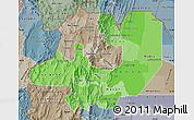 Political Shades Map of Salta, semi-desaturated